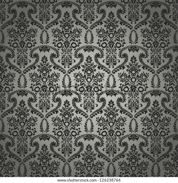 Seamless Classic Retro Wallpaper Pattern Created Stock Vector