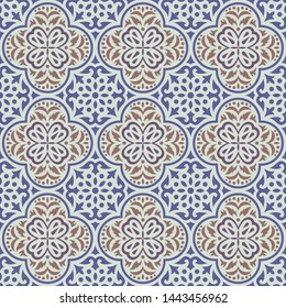 Seamless classic tile pattern background