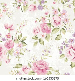 seamless classic wallpaper  vintage flower pattern grunge background