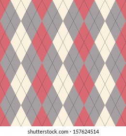Seamless classical argyle pattern. Can be used for wallpaper, pattern fills, web page background,surface textures