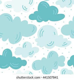 Seamless clouds pattern