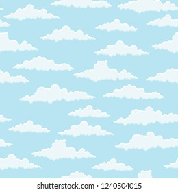 Seamless clouds pattern. Vector