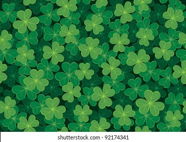 Seamless clover tile. Place them together to create a larger background.