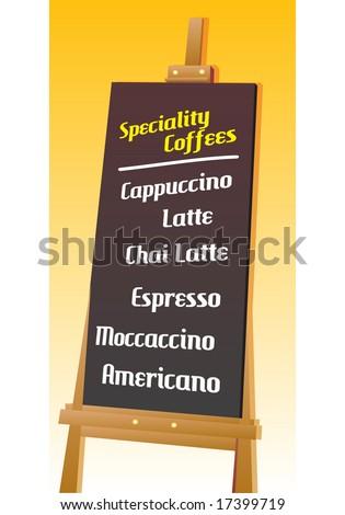 seamless coffee menu board template vector stock vector royalty