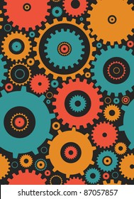 seamless cogs repeat pettern - colours 2