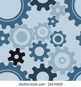 seamless cogwheel pattern - factory background