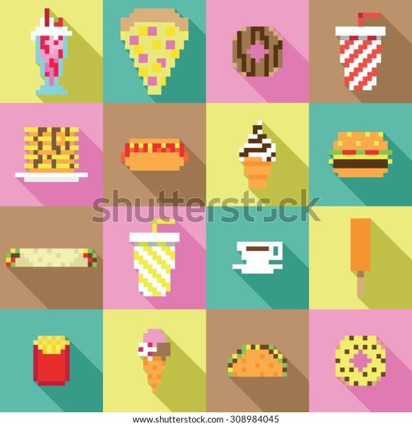 Image Vectorielle De Stock De Collection Harmonieuse Pixel