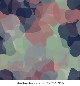Seamless color camouflage made of amorphous spots.
