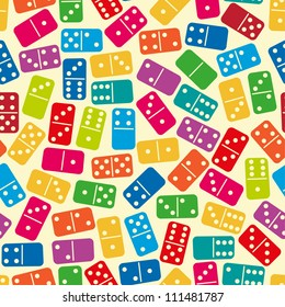 Seamless color dominoes pattern. Vector illustration