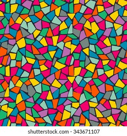 Seamless color mosaic pattern