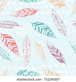 seamless color pattern of feathers