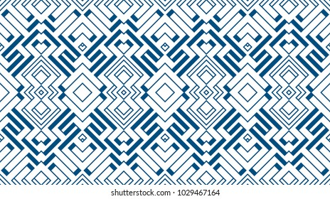 Seamless Color Retro Pattern Background. Vector Ornament