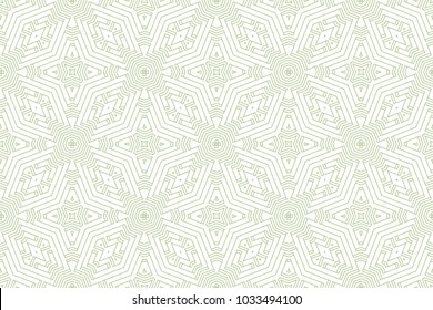Seamless Color Retro Pattern Background. Vector Guilloche Ornament. Abstract Wallpaper