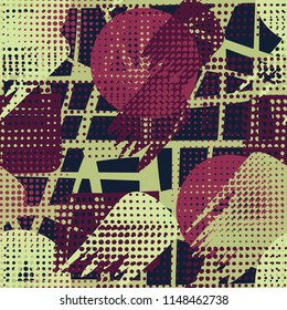 Seamless colored hodgepodge. Abstract texture. Grating background.