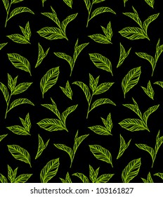 Seamless colored pattern with leaves in vintage style. Seamless pattern for your design wallpapers, pattern fills, web page backgrounds, surface textures.