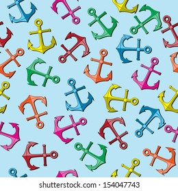 Seamless colorful anchor background