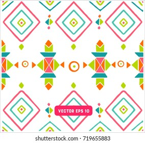 Seamless colorful aztec pattern. Abstract background for design. Ethnic elements.