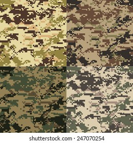 seamless colorful camouflage fabric pattern