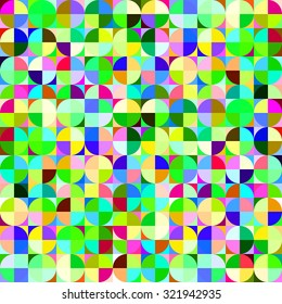 seamless colorful circle geometric abstract background.