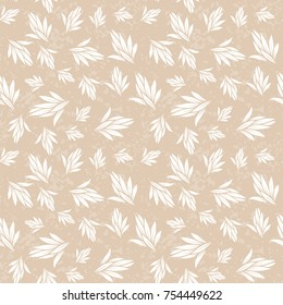 Seamless colorful floral pattern. Vector background with abstract leafs. Patterned paper wallpaper for scrapbooking