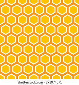 Seamless colorful honey comb pattern.