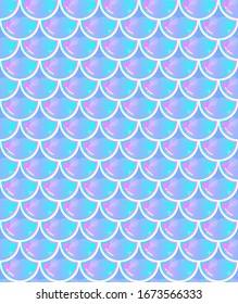 Seamless colorful mermaid scale pattern