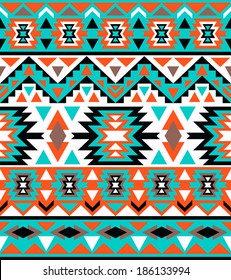Seamless colorful navajo pattern