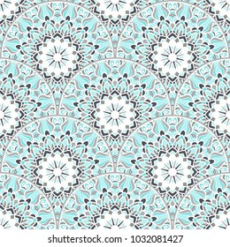Seamless colorful patchwork in Turkish style. Vintage decorative elements. Ethnic Mandala. Hand drawn background. Islam, Arabic, Indian, Ottoman motifs. Perfect for printing on fabric or paper. Vector