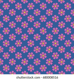 Seamless colorful pattern. Vector background with flowers