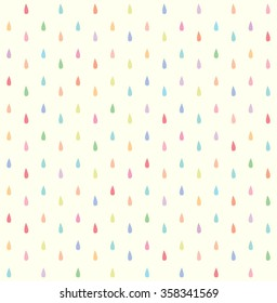 seamless colorful rain drops pattern background