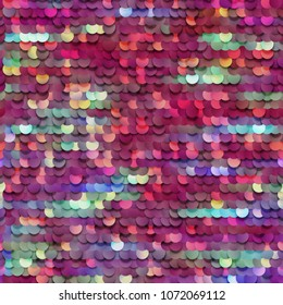 Seamless colorful sequined texture - vector illustration eps10
