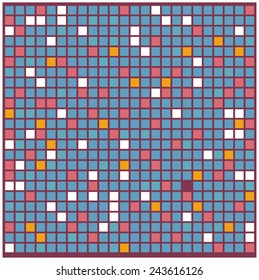 Seamless colorful square tiles pattern