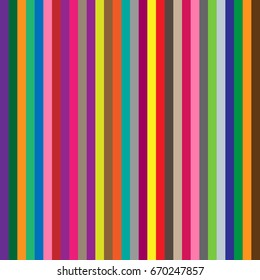Seamless colorful striped abstract background. Vertical rainbow stripe pattern. EPS10 vector illustration. Multicolor stripes for wallpaper, background, wrapping paper, backdrop, poster etc.