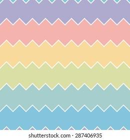 Seamless colourful rainbow sawtooth zig-zag pattern background