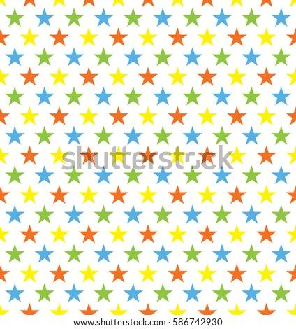 seamless colourful star pattern ideal for birthday gift wrapping paper
