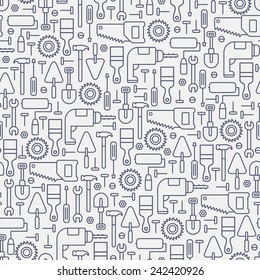 seamless construction line pattern on white background