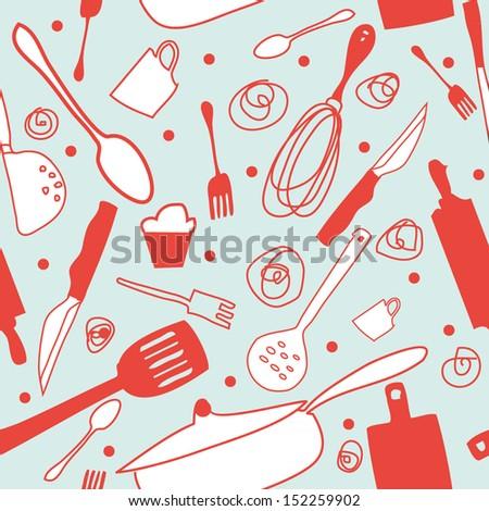 Retro Kitchen Wallpaper, Background, Pattern