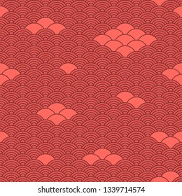 Seamless coral background in chinese style.