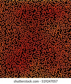 Seamless coral, brain pattern in gradient color