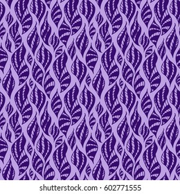 Seamless creative hand-drawn pattern of striped elements. Vector illustration.
