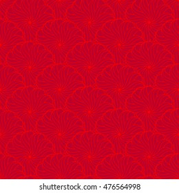 Seamless creative hand-drawn pattern of stylized flowers. Vector illustration.