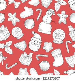 Seamless cristmas pattern, vector