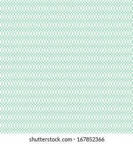 Seamless cross pattern in green color. For banknote, money design, currency, note, check (cheque), ticket, reward. Vector .