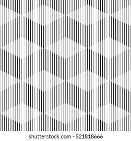 Seamless Cube Pattern. Abstract Futuristic Wrapping Background. Vector Regular 3d Texture. Modern Stripe Design