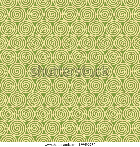 Seamless curl circle background pattern
