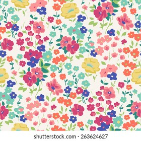 seamless cute flower vector pattern.