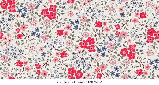 seamless cute flower vector pattern.