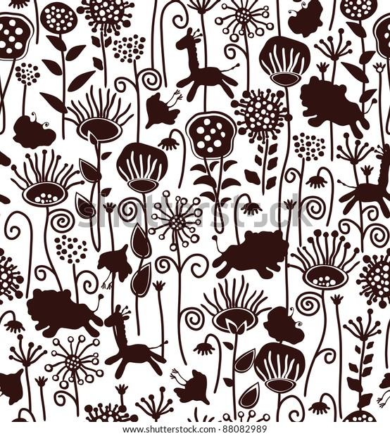 78 Gambar Motif Flora Dan Fauna Paling Bagus