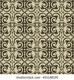 Seamless damask pattern and background