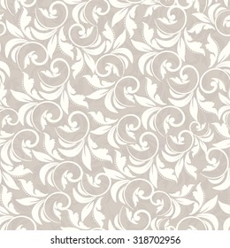 seamless damask pattern in beige